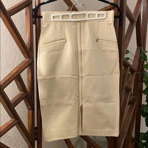 Stretchy Zipper Pencil Skirt